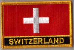 Switzerland Embroidered Flag Patch, style 09.
